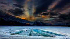 Ice Cracks (Normsnature) Tags: icecracks preacherspoint abrahamlake fuji film gfx 50s canada alberta landscape