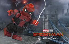 You're all alone... your friends are in trouble... what are you going to do about it? (Brick Builder Watts) Tags: lego spider man far from home peter parker tom holland custom painted minifigure