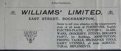 Williams' Limited - Rockhampton, Qld - 1907 (Aussie~mobs) Tags: 1907 vintage queensland australia rockhampton annualpublication printed advertisement williamslimited shop store furniture