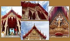 Buddhist Temple Collage, Bangkok, Thailand. (Manoo Mistry) Tags: bangkok thailand holiday nikon nikond5500 tamron tamron18270mmzoomlens collage buddhist buddha buddhism buddhisttemple