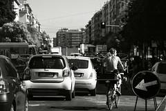 conan il barbaro sulla serenissima (duegnazio) Tags: italia italy lazio roma rome duegnazio canon40d bici bicicletta bike biker biancoenero blackandwhite streetphotography strada road serenissima collatino