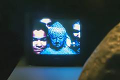 TV Buddha (Peter Van Lancker) Tags: gent nam june paik mémoires vives zebrastraat gand ghent buddha boedha selfie