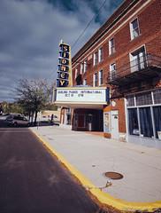Sidney, Ohio (Pete Zarria) Tags: ohio city sign small town street movie theater film popcorn coke goobers comedy