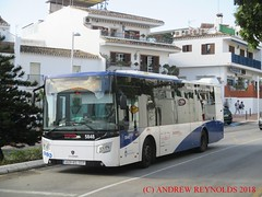 """2018 031201 SCANIA CASTROSUA BUS AVANZA BENALMADINA BUS 5848 4629 KCL 20 2840 JJK TOWN SERVICE M103 IN TOWN LIVERY (Andrew Reynolds transport view) Tags: europe spain andalucia transport bus coach transit passenger omnibus diesel """"mass transit"""" 2018 031201 scania castrosua avanza benalmadina 5848 4629 kcl 20 2840 jjk town service m103 in livery"""