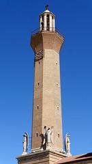 X_P1100047 (Menny Borovski) Tags: belchite spain church tower churchbell belltower carvedstone angel angels sculpture statue