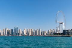 Dubai from sea (JarkkoS) Tags: 2470mmf28eedafsvr building city d850 dubai highrise jumeirah ocean persiangulf sea skyline skyscraper uae water unitedarabemirates ae