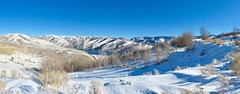 Up Here Again (Robert Cowlishaw (Mertonian)) Tags: mertonian lookingnorth robertcowlishaw winter2018 canon powershot sx70hs sublime ineffable awe wonder beautiful beauty wasatch mountains lake photophari panoramic cold wilderness