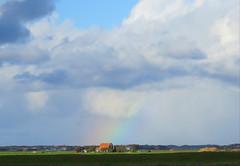 Regenbogen auf der holländischen Nordseeinsel Texel (Horst Pelka) Tags: regenbogen texel holland wolken landschaft insel urlaub natur netherlands rainbow schön farben colours