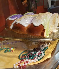 (cafe_services_inc) Tags: cafeservicesinc glendaleseniordining woodside mardigras promo promotions fattuesday celebration kingcake display decorations