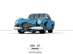 Aston Martin DB4 GT (1960) (lego911) Tags: aston martin astonmartin db4 gt coupe superleggera carozzerria touring british coachbuilt gb english luxury sportscar 1960 1960s classic auto car moc model miniland lego lego911 ldd render cad povray afol