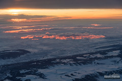 Before the Sun (kevin-palmer) Tags: flight airplane windowseat sheridan wyoming winter march snow early morning sunrise dawn nikond750 tamron2470mmf28 color colorful gold orange pink hills clouds sky