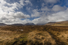 On Rannoch (Zog the Frog) Tags: red rannochmoor sky clouds mountains snow bog wideangle