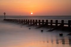 Sunrise (PeskyMesky) Tags: aberdeen aberdeenbeach sunrise sunset longexposure water sea ocean groyne scotland landscape winter canon canon5d eos