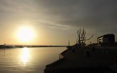 North Sea Sunrise - Port of Blyth Staithes (Gilli8888) Tags: blyth northumberland nikon p900 coolpix harbour staithes port portofblyth northsea northeast sunshine sunrise silhouettephotography silhouette jetty spiritofthestaithes art street streetart
