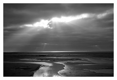 Christmas at the sea (mechanicalArts) Tags: north sea bw nordsee schwarzweis christmas wolken sonne
