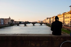(AleColamonici) Tags: holiday trip travel toscana nikon thinking alone man florence firenze
