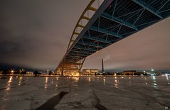 High Road. (Nomadic Complacency) Tags: bridge architecture ice winter lights industry milwaukee urbex sonyalpha sonya6000 landscape
