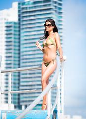 South Beach Swimsuit (Steve Muise) Tags: miami southbeach florida girl swimsuit bikini posing buildings beach hair model tan