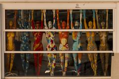 Hands Up (Crisp-13) Tags: valletta malta mannequin shop window naked bare women ladies female nude breasts boobs nipples multi colour art work artwork painted