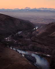River (Sony J Thomas) Tags: landscape river sunset mountains valley pacificnorthwest washington nature