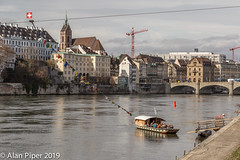 The Rhein ferry at Basel (PapaPiper) Tags: rhein basel switzerland river riverscape boat boats