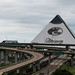 Interstate 40 and the Pyramid