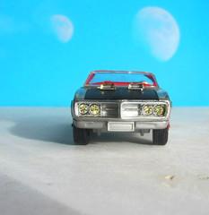 Corgi Toys No. 343 Pontiac Firebird 1969 With Red Spot Wheels : Diorama Futuristic Double Moon - 8 Of 13 (Kelvin64) Tags: corgi toys no 343 pontiac firebird 1969 with red spot wheels diorama futuristic double moon