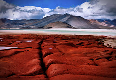 Red Rocks near Andes (Alexander H.M. Cascone [insta @cascones]) Tags: south america southamerica chile latinoamerica san pedro sanpedro sanpedrodeatacama atacama desert nature travel water reflection clouds sky natural landscape blue beautiful view red rocks mountains andes alien environment surreal strange unusual vacation