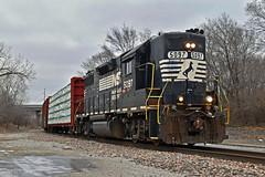 Westbound Transfer in Kansas City, MO (Grant G.) Tags: ns norfolk southern railway railroad locomotive train trains west westbound transfer freight emd high hood kansas city missouri