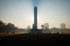 Maidaan, Kolkata (SaumalyaGhosh.com) Tags: maidaan kolkata india color light morning fuji fujifilm xt2 tower shadow people tall sky field