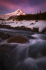 Purple Mountain Majesty (kephart_kyle) Tags: 2017 cold december mthood oregon park portland river snow sunset wihite winter
