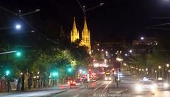Night skyline (railfan3) Tags: adelaide adelaidenight stpeterscathedralnight church streetscene streetview kingwilliamroad northadelaide adelaidemetro adelaidetrams publictransport nightstreetscape southaustralia australia australian