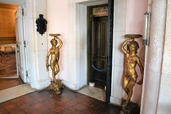 Near naked nymphs gaurding the elevator door 0229 (Tangled Bank) Tags: in main house vizcaya museum gardens miami old classic heritage vintahe history vintage historical art furnishings mansion dade county florida near naked nymphs gaurding elevator door 0229