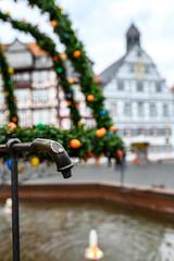 Historischer Marktplatz (Katzenfutter) Tags: butzbach hessen germany brunnen marktplatz historical historisch fachwerk