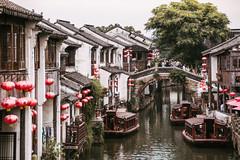 Shantang St, Suzhou, Jiangsu (Mystikopoulos) Tags: river china asia travel boats explore suzhou jiangsu shantang asian buildings water pagode tourist traveltheworld traveling discover wolrd bridge
