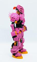 Toa Kelsifa - Side (0nuku) Tags: bionicle lego toa fire ta pink mace flail elves 3dprint punkdrunk182 exota kafai magnetism