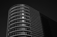 Grennway Plaza Glass II (infrared) (dr_marvel) Tags: ir infrared houston tx texas architecture buildings glass lines curves rounded