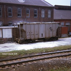 Spotted For Service (NSHorseheadSD70) Tags: robert tokarcik freight cars trains railways railroads covered hopper co chesapeake ohio morgantown west virginia wv
