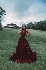 Cacau (jullieph) Tags: beauty wolf goddess reddress makeup costume fineart conceptual portrait photoshoot