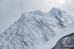 Rakeltind (kevin-palmer) Tags: norway arctic europe winter march snow snowy mountains nikond750 nikon180mmf28 telephoto cloudy overcast rakeltind scandinavianmountains cold tromscounty