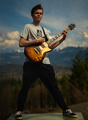 On Top Of The World (RoselliDigitalJr) Tags: model guitar sony a7rii outdoor sunset afternoon day landscape portrait mountian sky