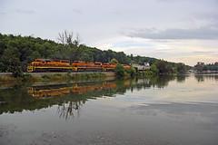 BPRR 3330, SIBF, Elton Rd, Lime Lake, NY, 09-07-18 (mikeball1374) Tags: buffalopittsburghrailroad bprr sibf buffalo newyork emd sd403 train transportation trainphotography trains railfanning railroad photography locomotive gwi freighttrain matchedpair standardcab