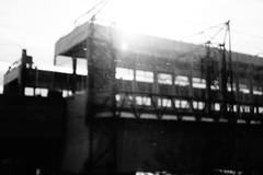 Dark Architecture (theflyingtoaster14) Tags: dark dunkel architecture black white schwarzweiss fotografie fotograpny bahnhof railway station nassplatte unsharp unscharf steeel stahl concrete beton sony rx100 mark ii vienna wien architektur