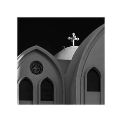 coptic cross (Karl-Heinz Bitter) Tags: church coptic egypt architektur architecture monochrome monochrom blackwhite schwarzweiss framed karlheinzbitter travel reise cross kreuz