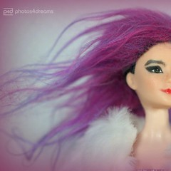 björk purple hair (photos4dreams) Tags: photos4dreams p4d photos4dreamz barbie doll lea asian dress mattel toy barbies girl play fashion fashionistas outfit kleider mode björk singer songwriter ooak canoneos5dmark3 handpainted celebrity björkdoll 16 diy