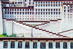 Potala Close (roevin | Urban Capture) Tags: lasashi xizangzizhiqu china cn lhasa architecture ancient old decorative house building buildings perspective view ornament palace temple religion mountain castle walkway entrance potala tibet buddhism history fullyfilled