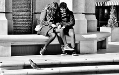 Leg Over  [Explored # 306] (jaykay72.) Tags: london uk street candid streetphotography paternostersquare stphotographia blackandwhite bw