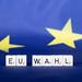European Union flag with EU Wahl text