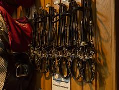 Lipizzaner Stallion Training Facilities Bridles (rschnaible) Tags: vienna austria europe spanish riding school work production lipizzaner horse training bridle