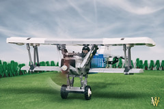 Fokker on the Run (Dread Pirate Wesley) Tags: lego moc fokker dvii fighter scout great war wwi germany german biplane airplane aircraft aviation